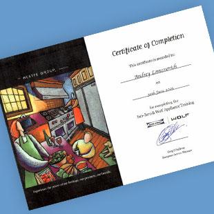 Фото для Сертификат Sub-Zero & Wolf Apliance Training